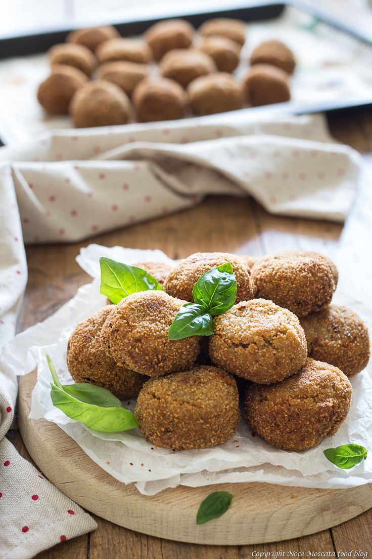 Polpette di melanzane e tonno food photography eggplant meatballs