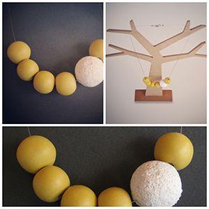 Abalorios bisuteria fimo sculpey mostaza azúcar. #fimo,#sculpey,#moda,#complementos mujer. http://sofiasthings.com.