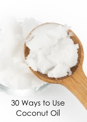 Coconut oil is not just for cooking anymore! Click here for 30 unexpected ways to use coconut oil.