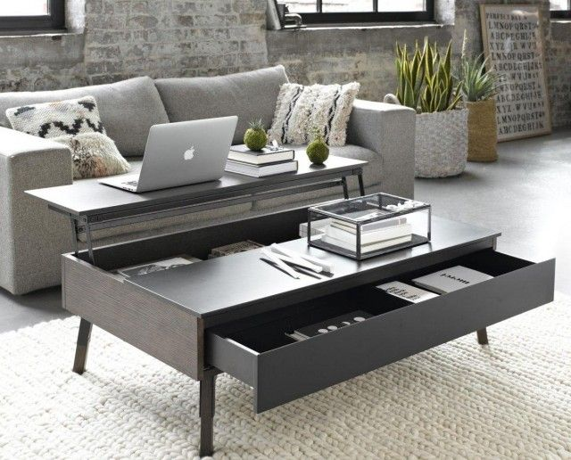 17 best images about table basse on pinterest pallet for Table basse blanche plateau relevable