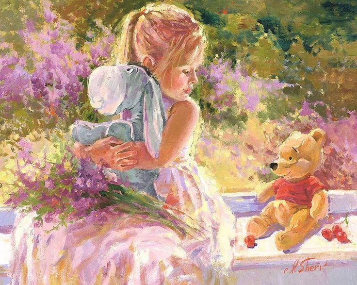"""Disney Fine Art: """"Sunny Window"""" by Irene Sheri:)"""
