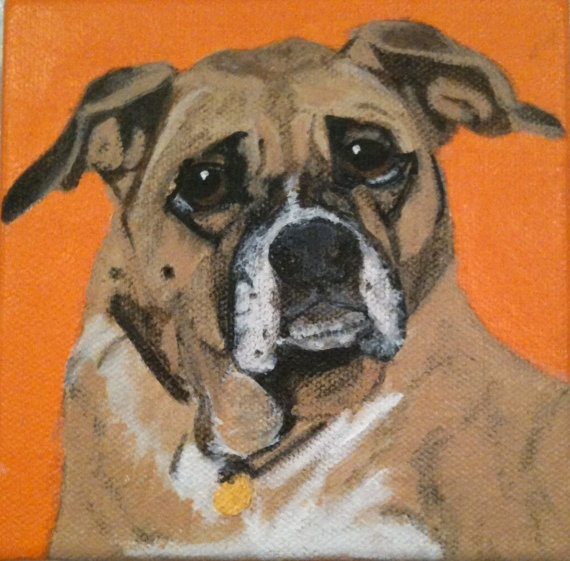 Dog portraits of your pet!                                       5 X 5 on canvas!: Boxer Custom, Adorable Pet, Pet Portraits, Animal Art, Canvas, Dog Portraits, Christmas Gifts