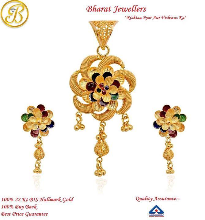 100% 22k #Hallmark #Gold #Jewellery from Bharat Jewellers!