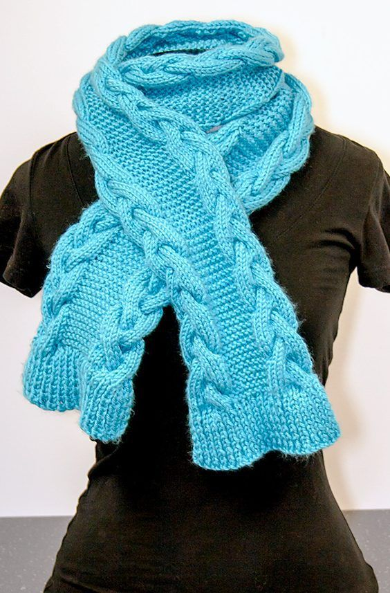 Knitting Patterns For Scarves On Pinterest : 431 best Scarf & Cowl Knitting Patterns images on Pinterest Knitting pa...