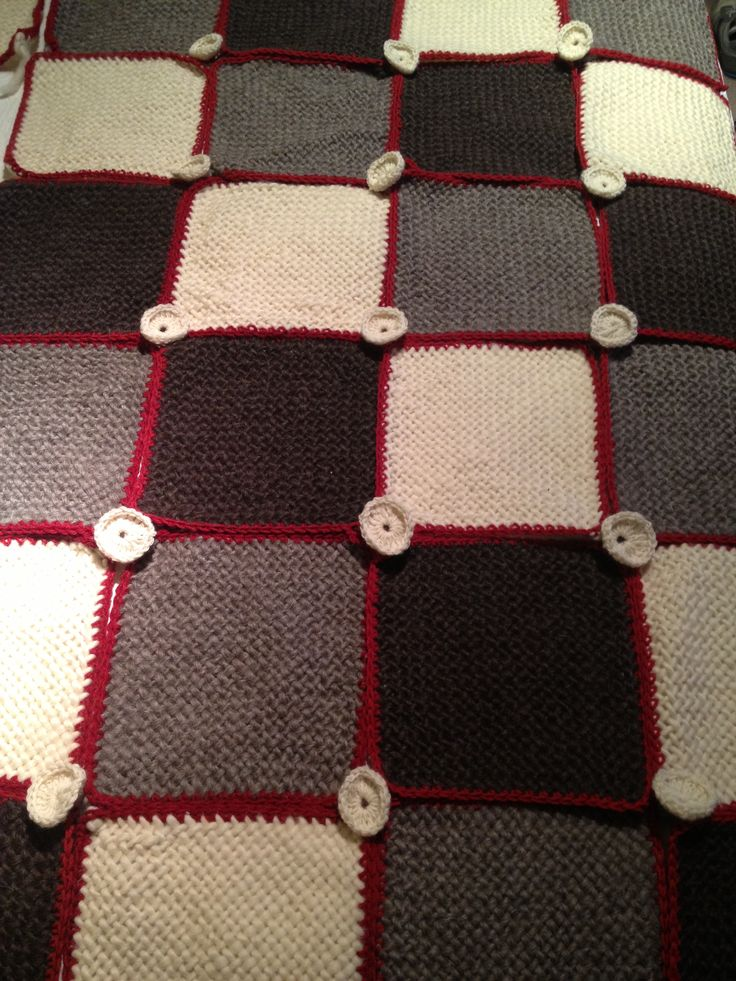 Crochet loom throw piecera telar