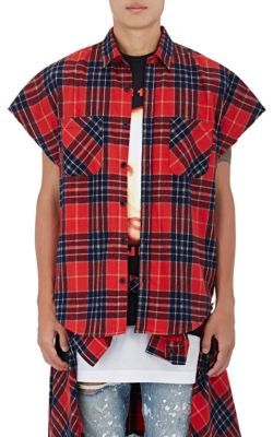 Fear of God x Purpose Tour   Brushed Flannel Sleeveless Shirt at Barneys New York
