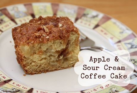 Apple Sour Cream Coffee Cake - makes two dishes, so you can eat one ...