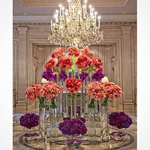 Inspiration for an entrance to a grand wedding ~ Jeff Leatham