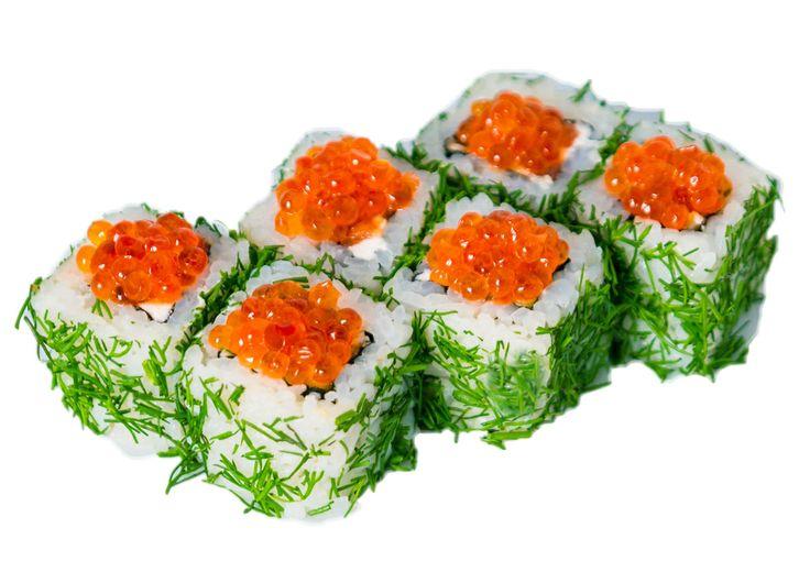 Московский  Угорь, огурец, подкопчённый лосось, свежая зелень, сыр «Филадельфия», красная икра Вес: 185 г 330.00 руб.