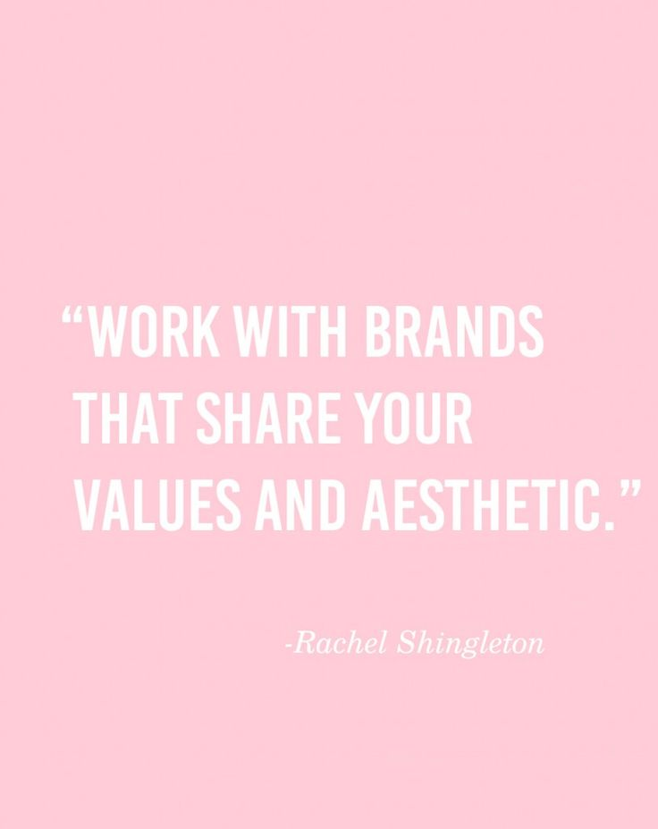 Share Your Values & Aesthetic