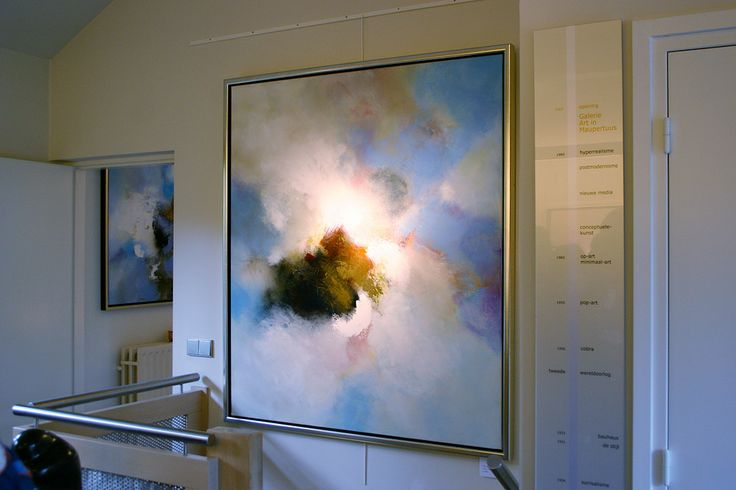Eelco Maan I lyrical abstract paintings I  Galerie Art in Maupertuus, Geulle, 2009