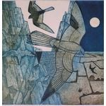"Falco, falco Collagraph Edition 20 size 19"" x 20"" price 245.00 pounds by Laurie Rudling United Kingdom"