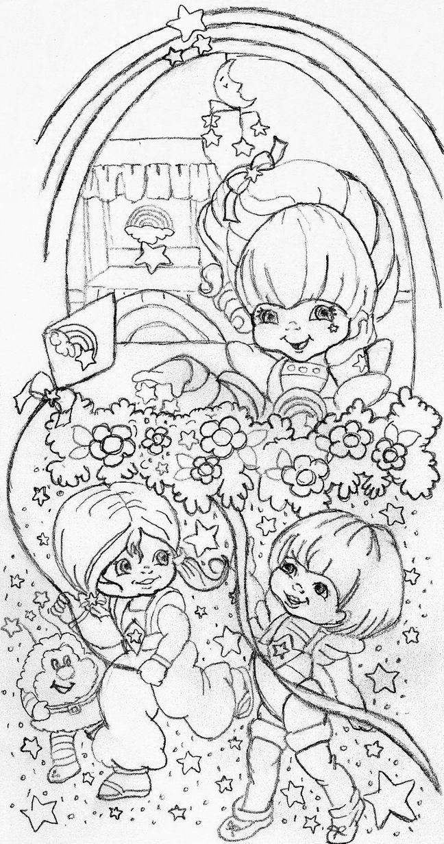 Rainbow brite characters coloring pages - Ink Care Bear Sleeve This Is A Rough Draft Of A Rainbow Brite Half Sleeve