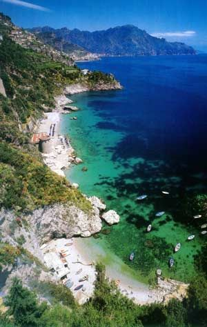 Conca dei Marini, Costiera amalfitana, Campania, Italy - just before the town on Amalfi on the coast!