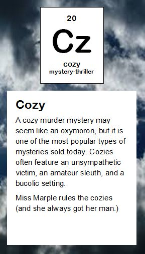 cz cozy mystery - Periodic Table Of Elements Ya