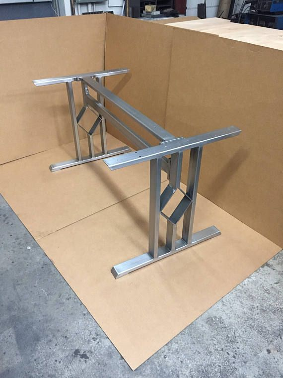 Design Dining Table Base Three Bars With Diamond Set of 2