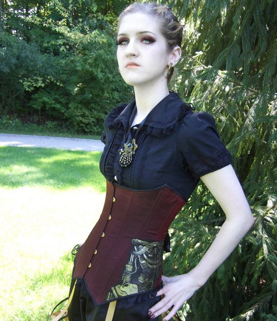 Gorgeous outfit, but more than that, I NEED to figure out how to do my makeup like this.Hands Painting, Steampunk Corsets, Underbust Corsets, Corsets Waistcoat, Cyborgs Steampunk, Finding Black, Gorgeous Outfit, Beautiful Clothing, Waistcoat Style