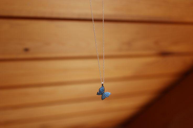 Butterfly necklace...Find it on www.goldentiara.gr