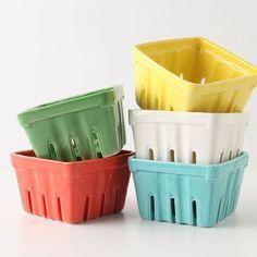 Creative Co-Op Stoneware Berry Basket