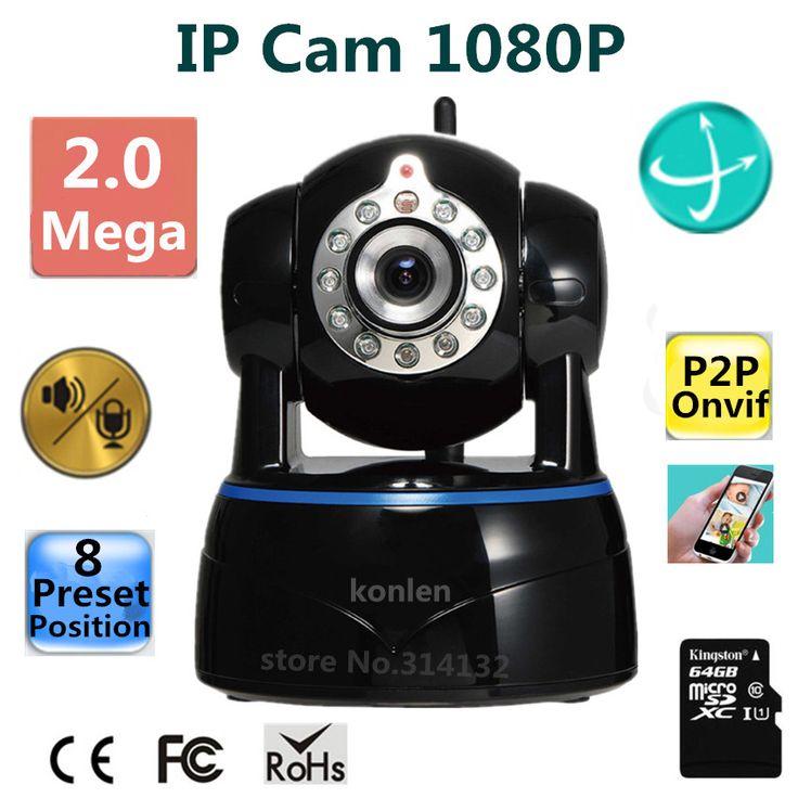 IP Camera 2mp 1080P 1/2.7 CMOS Full HD wifi wireless P2P Onvif PTZ SD Card Night Vision celular Android CCTV Network IP Kamera