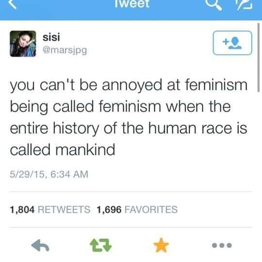 i dont care if its called makind i dont think its sexist but i agree with this statement