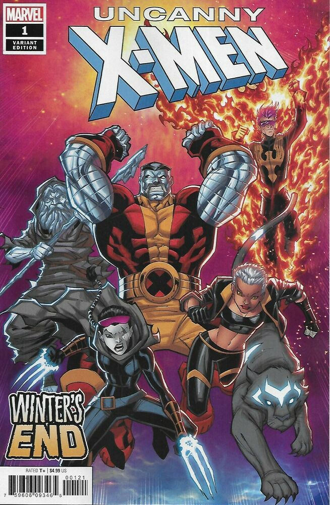 Uncanny X Men Comic Issue 1 Winter S End Limited Variant Modern Age First Print Comic Book Genres Comics Comic Books Art