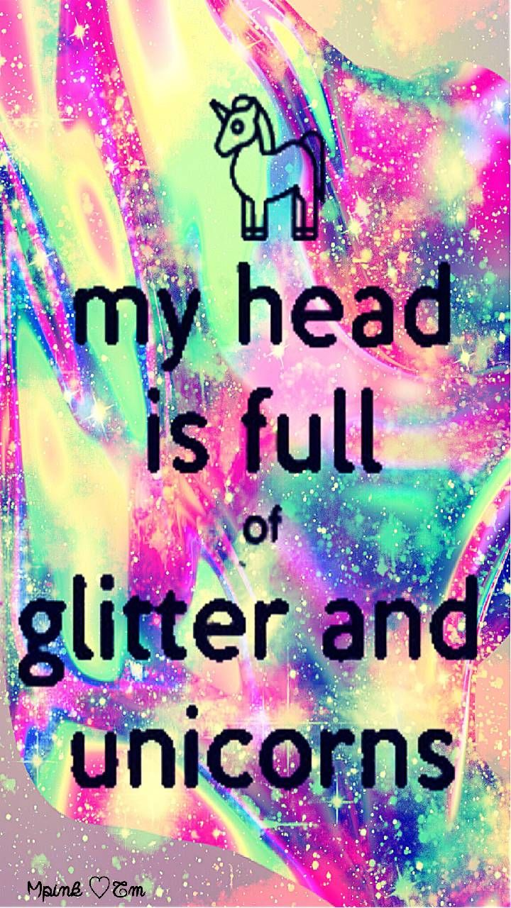 My Head Is Full Of Glitter Galaxy Wallpaper Androidwallpaper