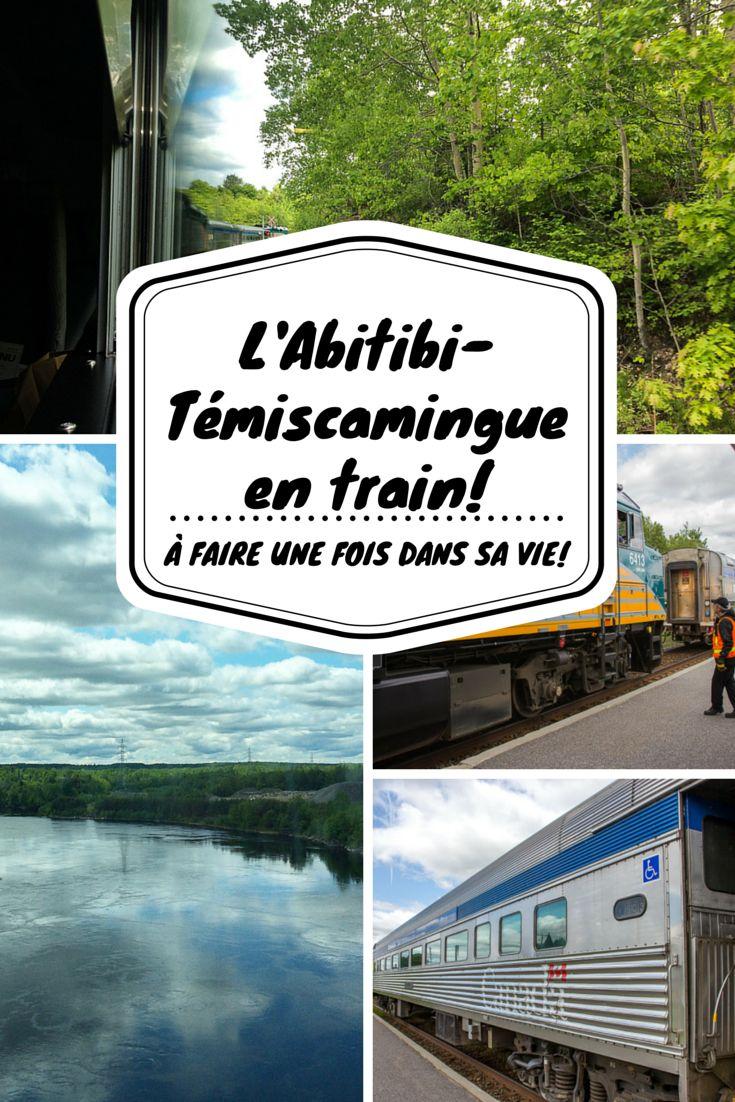 Définitivement quelque chose à faire une fois dans sa vie que visiter l'Abitibi-Témiscamingue en train, une région mythique du Québec, voire même du Canada!