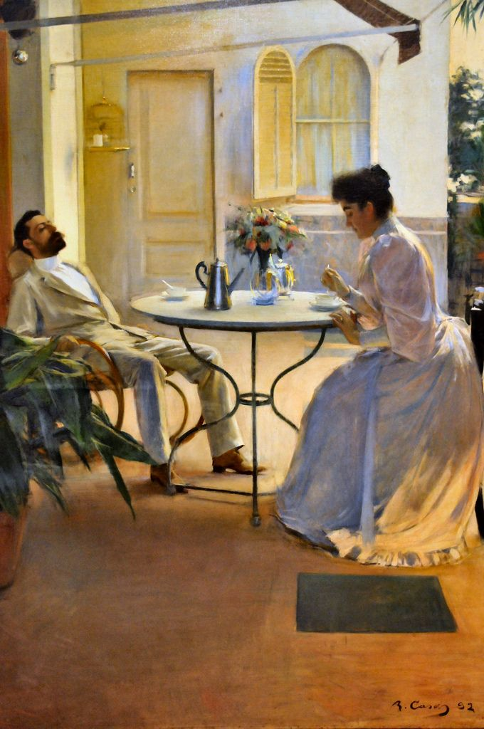 RAMON CASAS - Open Air Interior at Barcelona National Art Museum of Catalonia | Flickr - Photo Sharing!