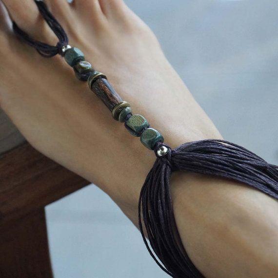 Tribal Barefoot Sandals Boho Body Jewelry Beach Jewelry by M0MITA, $19.50