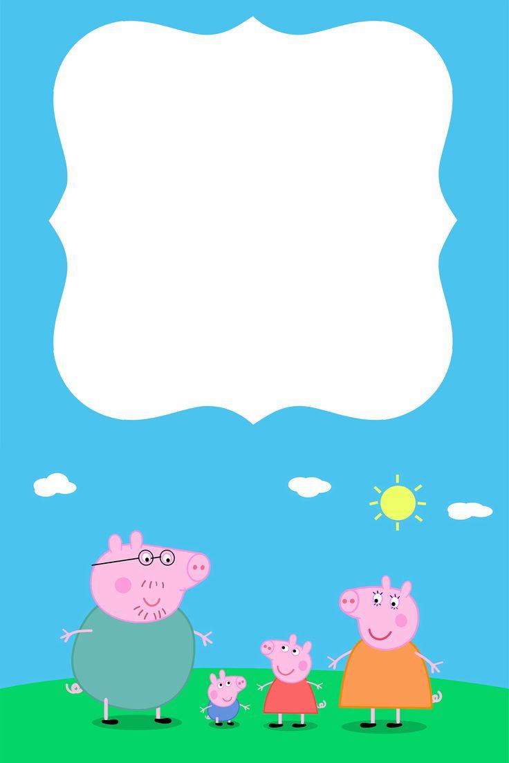 Papa Pig Invite Templet