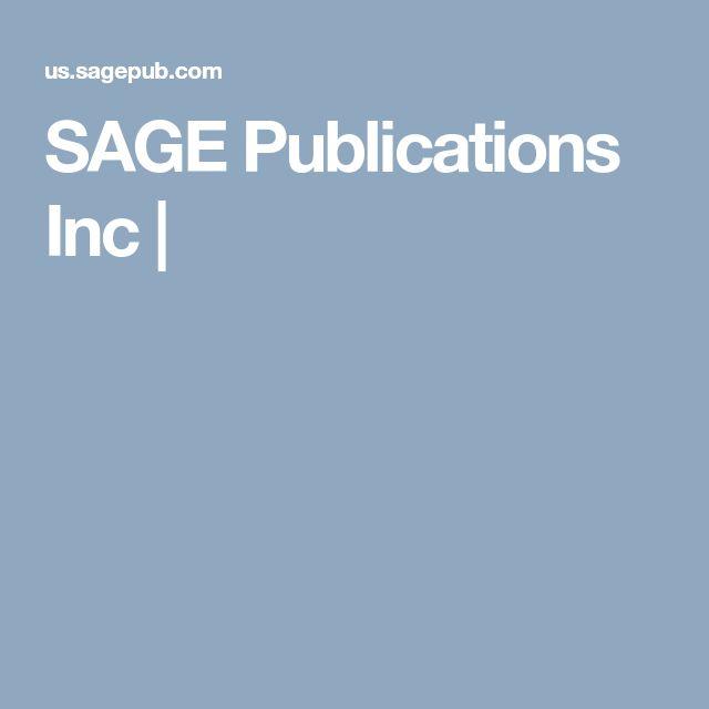 SAGE Publications Inc  