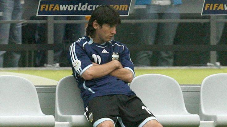 En Alemania 2006 quedaba un último cartucho. Pekerman prefirió a Julio Cruz sobre Lionel Messi