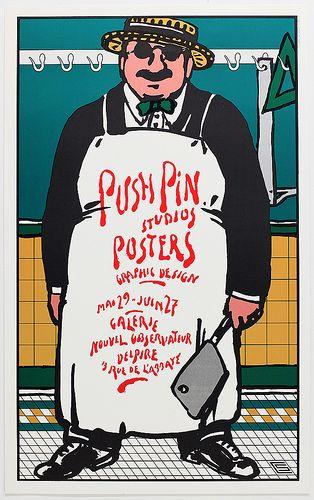 Seymour Chwast ~ Push Pin Poster | Flickr - Photo Sharing!