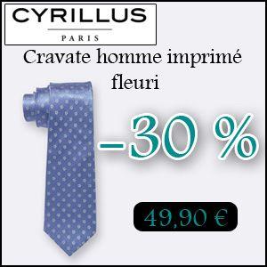 #missbonreduction; 30 % de remise sur la Cravate homme imprimé fleuri chez Cyrillus. http://www.miss-bon-reduction.fr//details-bon-reduction-Cyrillus-i228-c1830455.html