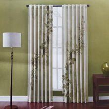 Impressão de luxo com Emb cortinas persianas de volta Tab com Rod bolso para sala de estar quarto tratamentos da janela cortinas painel(China (Mainland))