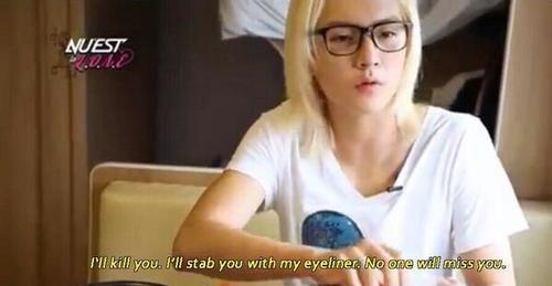Ren and his kind words of love ~ xD #nuest