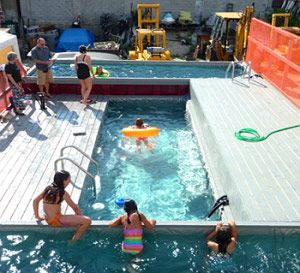 multi level shipping container pools very cost effective way to have a swimming pool. Black Bedroom Furniture Sets. Home Design Ideas