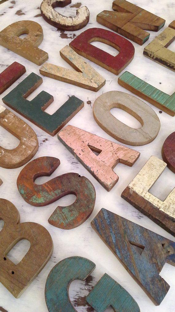LETTERE e NUMERI VINTAGE  hand made in legno di inmyVintageRoom