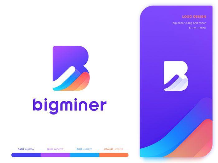 Logo Big Miner Logo Design App Logo Color Combinations