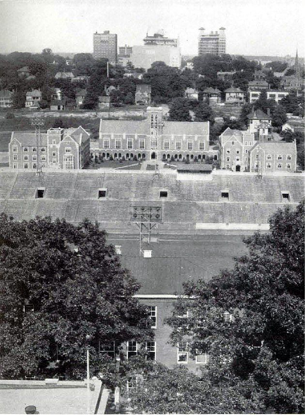 1933 photograph of Grant Field at Tech!