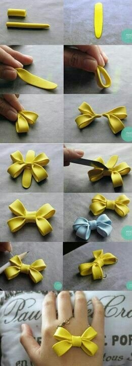 Lovely bow charm DIY: use polymer clay for a nice statement necklace