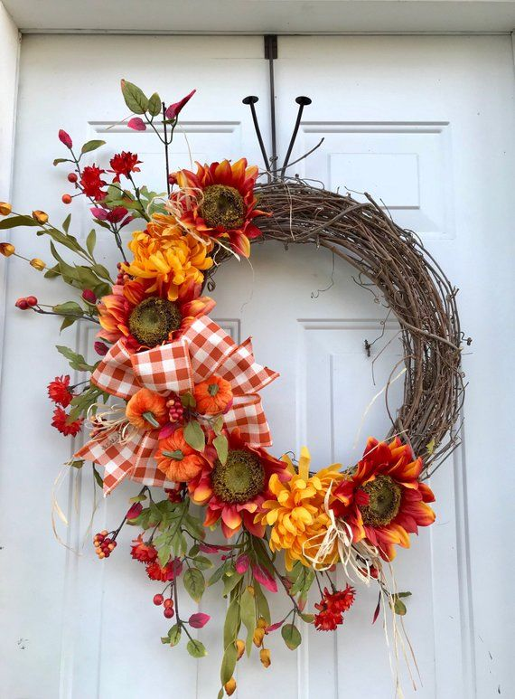Bring The Fall Bounty To Your Front Door This Autumn This Wreath