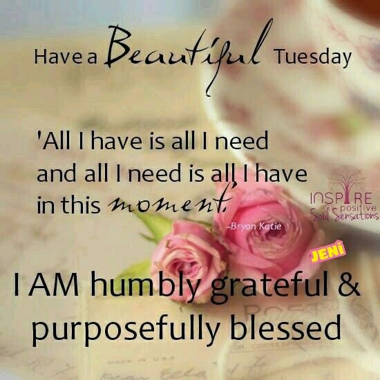 Have a beautiful Tuesday.