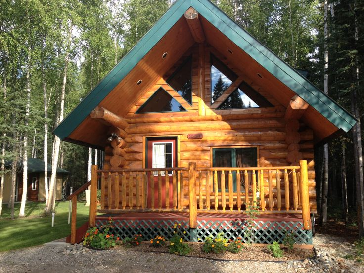 Cute summer cabin in north pole alaska log homes for Alaska log home builders