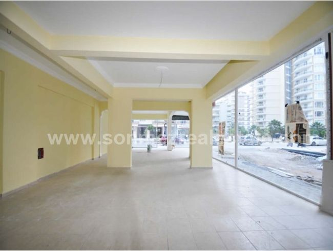 100sqm shop shop for sale with extra 30sqm using area at front on attractive Barbaros main street in central Alanya/Mahmutlar  Sonmez Real Estate | Construction | Real Estate | Alanya | Turkey