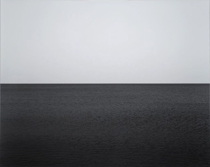Hiroshi Sugimoto 'Baltic Sea Rugen' 1996, part of the 'Seascapes' series