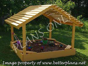 Plans to Build A 6' x 6' Covered Sandbox Sand Box Playground Equipment | eBay