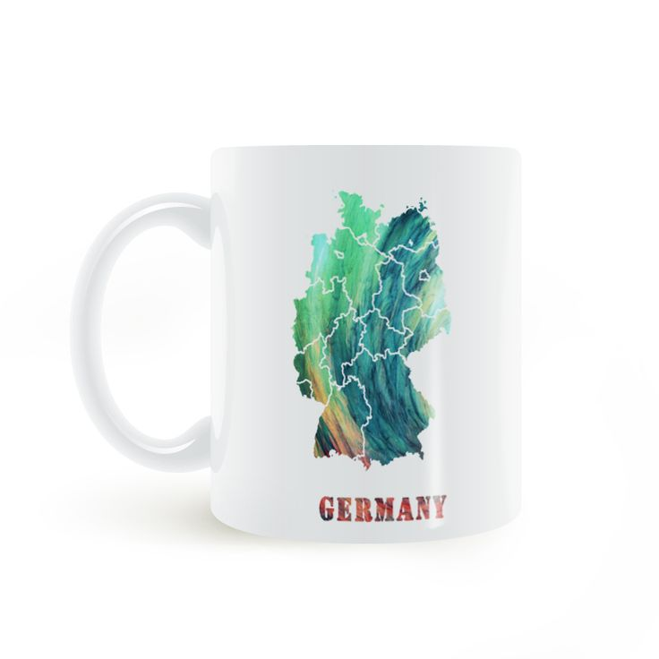 Find More Mugs Information about Germany Map Mug Coffee Milk Ceramic  Creative DIY Gifts Home Decor Mugs 11oz T097,High Quality decorative mugs,China map mug Suppliers, Cheap mug coffee from Double Seven Store on Aliexpress.com