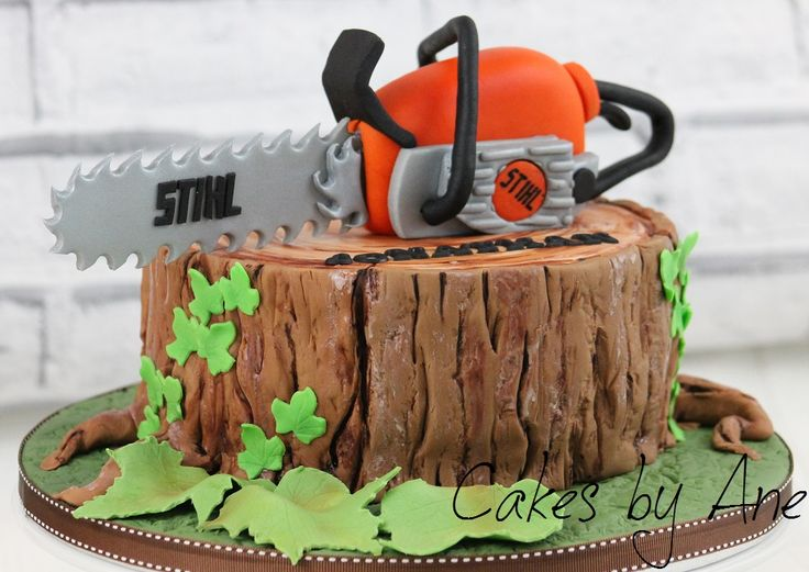 Chainsaw Cake